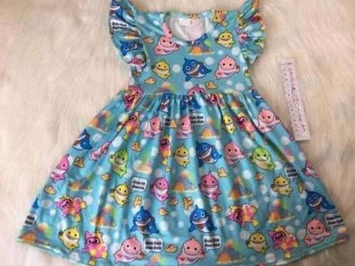 Baby Shark Character Dress