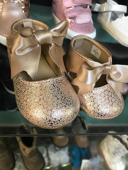 Baby Deer Rose Gold Bow Flats