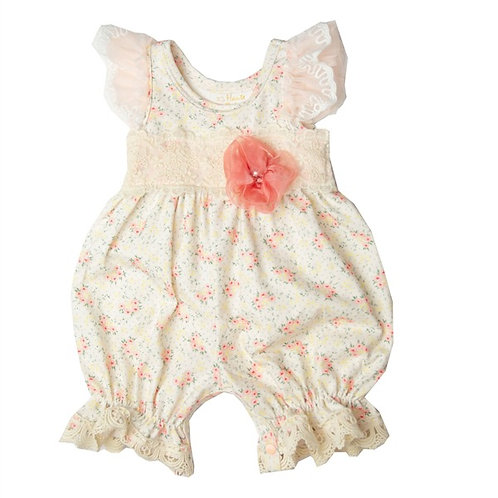 Haute Baby Hint of Spring Bubble Romper