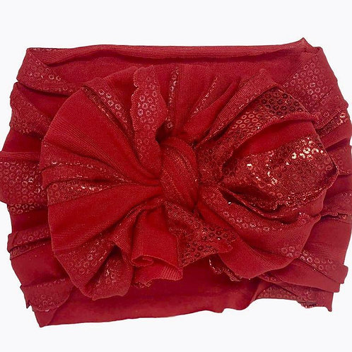 In Awe Red Foil Sequin Headband