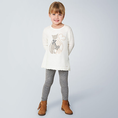 Mayoral Cat Sweater 2PC Set