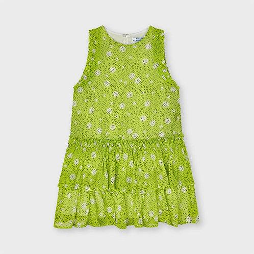 Mayoral Lime Dots Dress