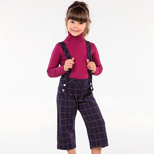 Mayoral Navy Overall and Sweater 2PC Set