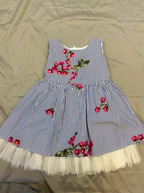 Popatu Striped Floral Dress