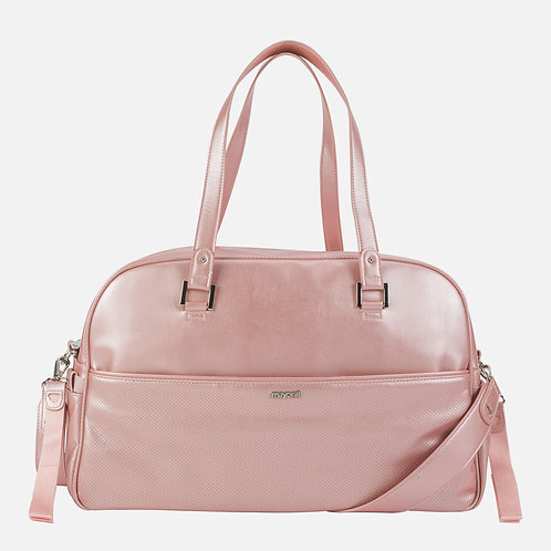 Mayoral Pink Metallic Bow Diaper Bag