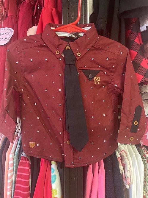 Noruk Dress Shirt with Tie