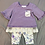 Thumbnail: Bonnie Jean Purple Stripes 2PC Set