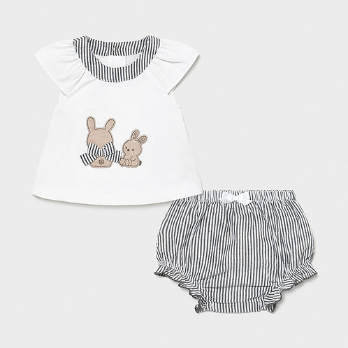 Mayoral Bunny Bloomer 2PC Set