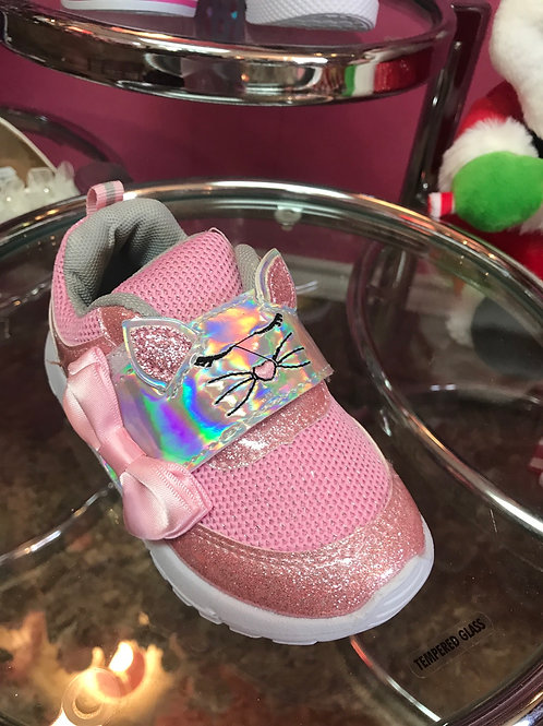 Laura Ashley Pink Glitter Cat Sneaker