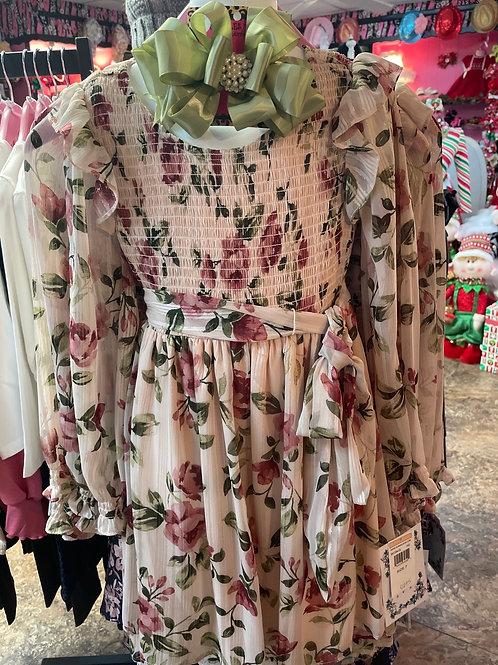 Bonnie Jean Sheer Floral Dress