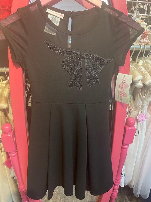 Bonnie Jean Black Bow Dress