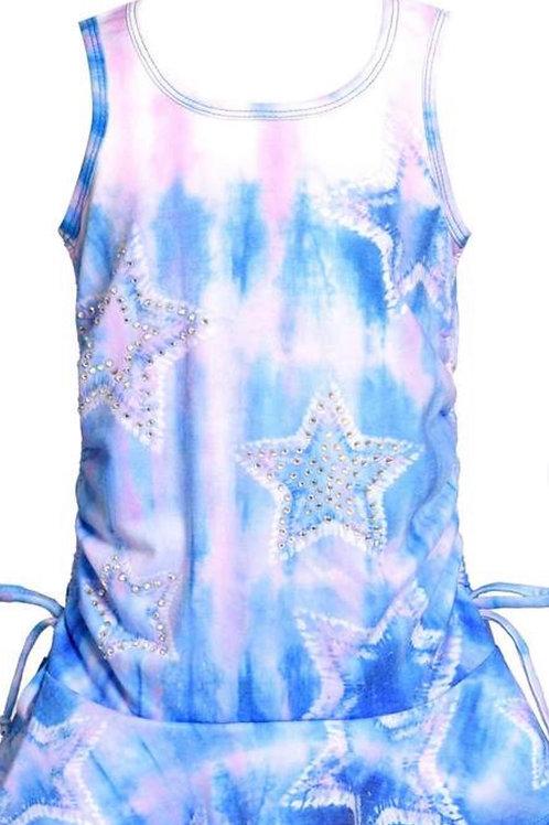 Baby Sara Sleeveless Star Tie-Dye Dress