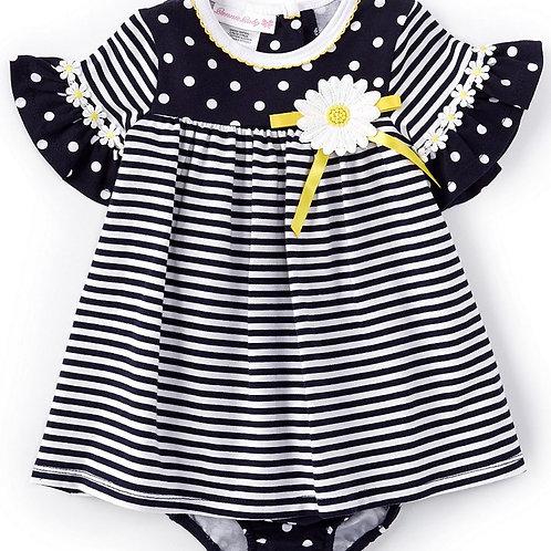 Bonnie Jean Daisy Stripes Dress