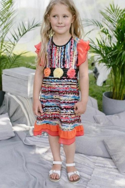 Z.A.Z.A Couture Tribal Pattern Dress
