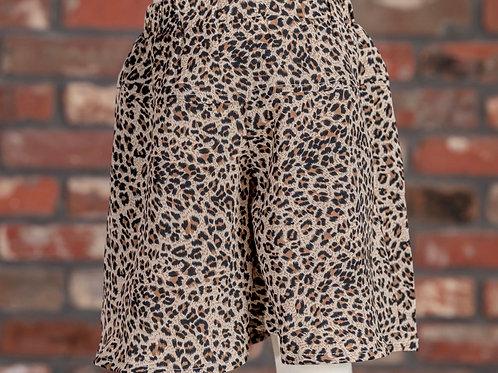 M.L. Kids Leopard High Waisted Shorts