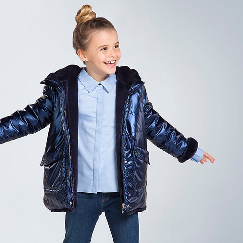 Mayoral Navy Reversible Winter Coat