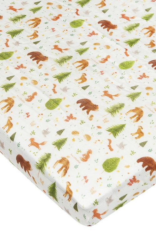 Lulu Lollipop Forest Friends Fitted Crib Sheet