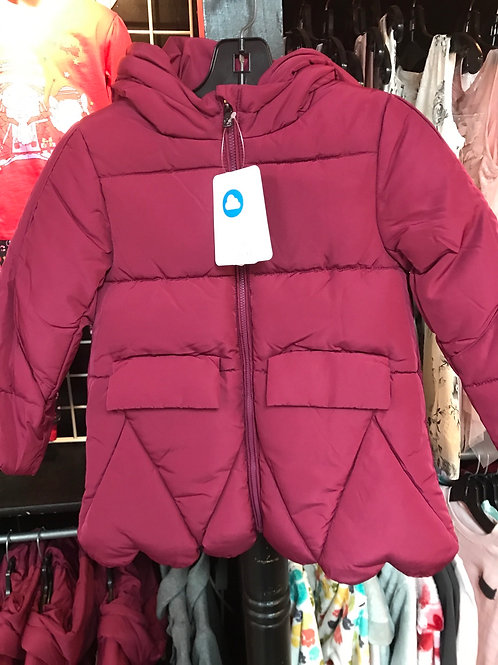 Mayoral Puffy Magenta Coat
