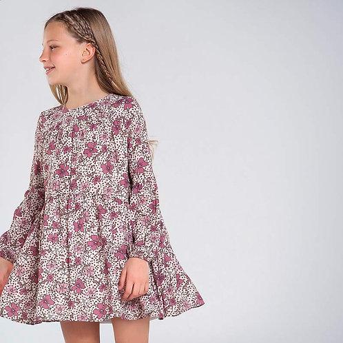 Mayoral Floral Rosado Dress