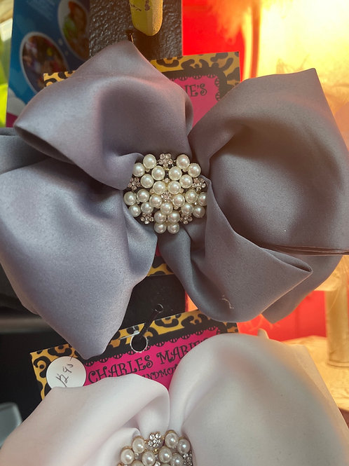Matte Satin Large Bow with jewels