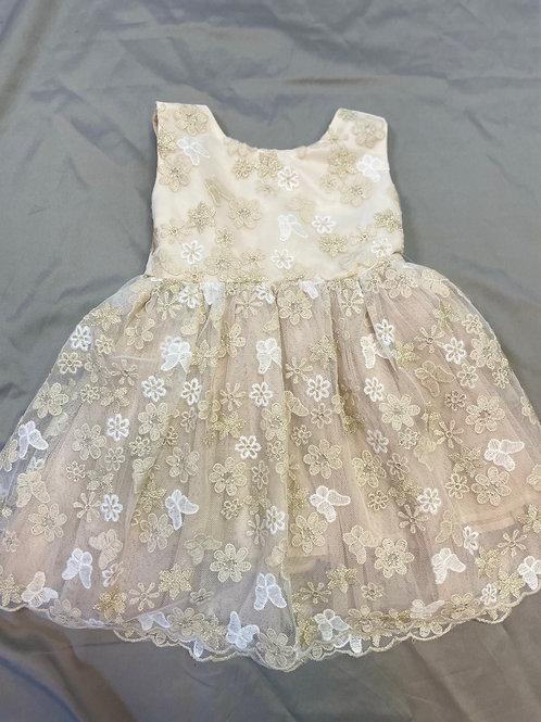 Popatu Gold Floral Dress