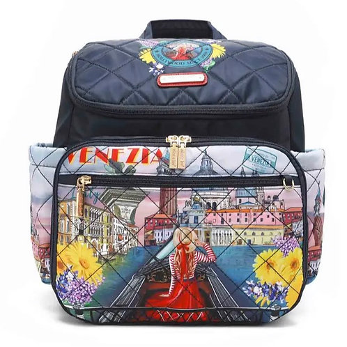 Nicole Lee Honeymoon in Venezia Backpack Diaper Bag