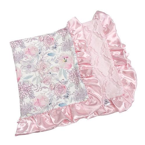 Rockin Royalty Bashful Pink Floral Blanket