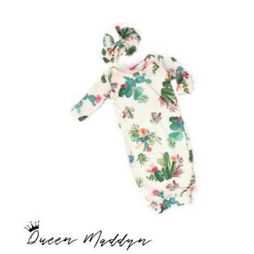 Queen Maddyn Cactus Baby Gown