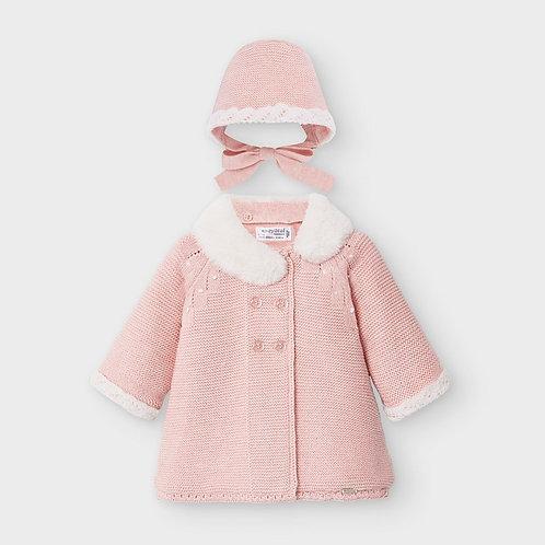 Mayoral Blush Big Knitted Coat