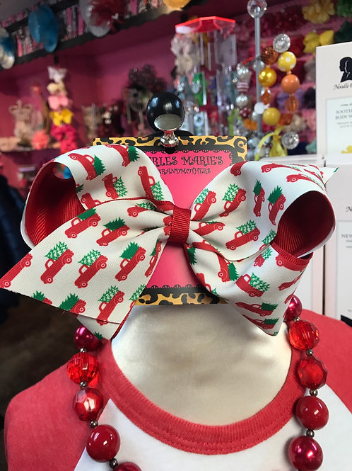 Wee Ones Christmas Tree Truck Bow