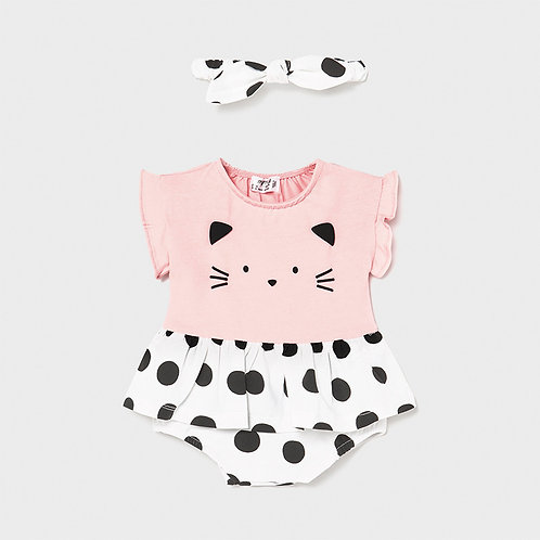 Mayoral Kitty Bubble Romper