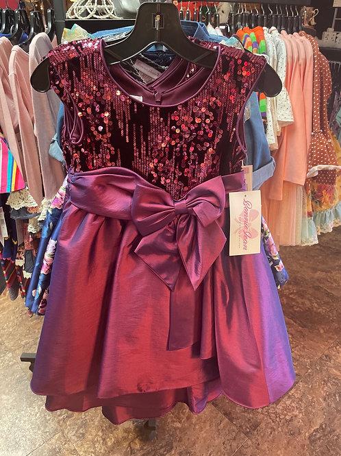 Bonnie Jean Wine Party Dress