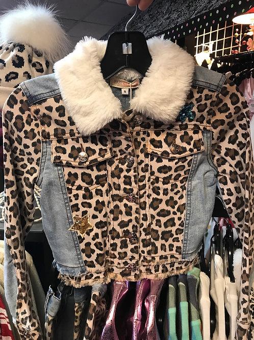 Baby Sara Leopard and Denim Jacket