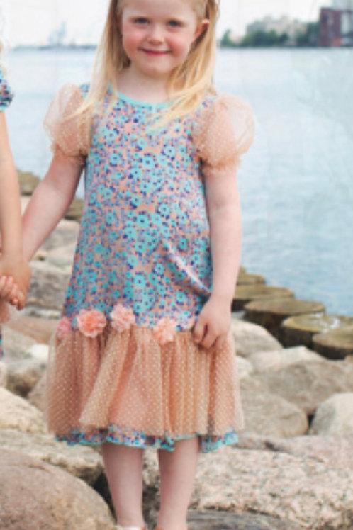 Z.A.Z.A Couture Blue Floral Dress