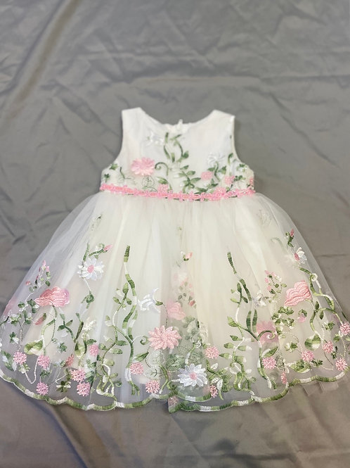 Popatu White Floral Dress