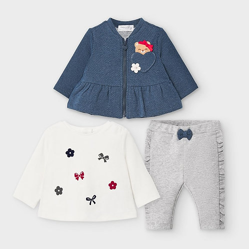Mayoral Bear and Bow 3PC Set