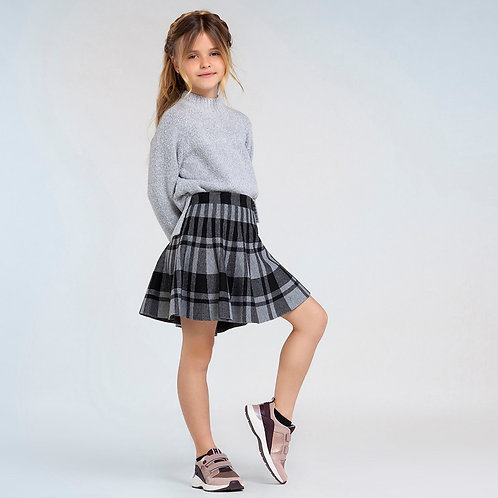 Mayoral Plaid Stretch Skirt