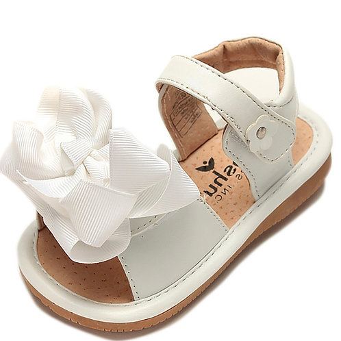 Mooshu Squeaky Sandal with Bow Trainers