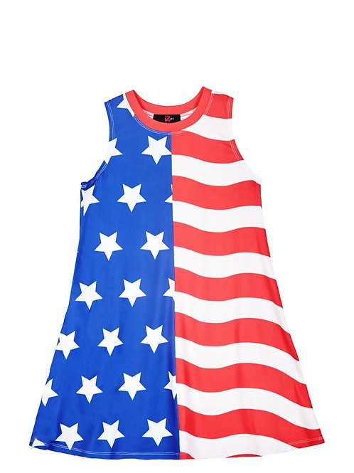 Amy Byer Sleeveless Knit Dress - American Flag