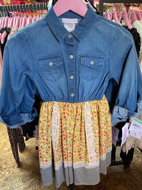 Bonnie Jean Denim Floral Dress