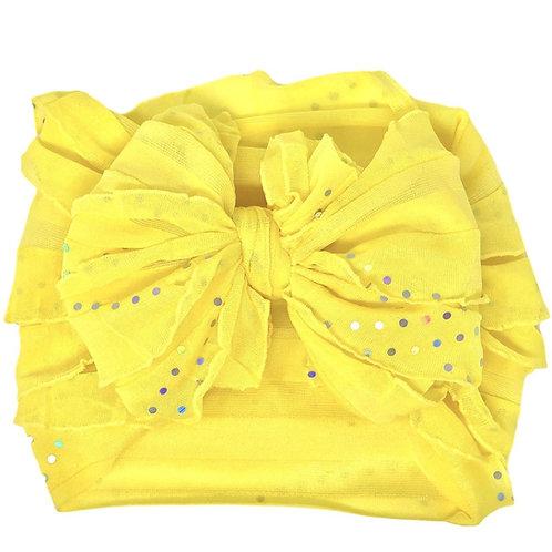 In Awe Lemonade Sequin Ruffled Headband