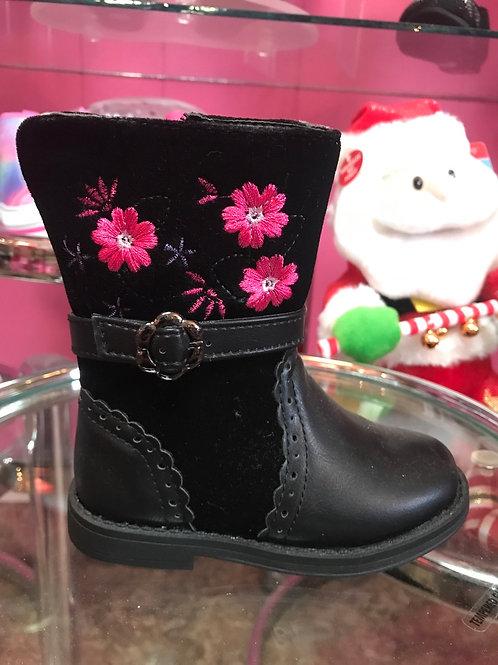 Laura Ashley Black Floral Boots
