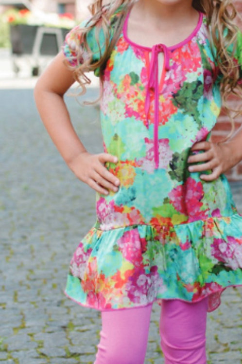 Z.A.Z.A Couture Floral Tunic 2PC Set