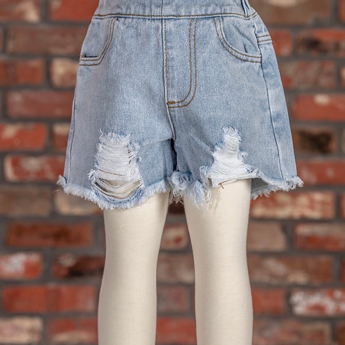 M.L. Kids Distressed Shorts