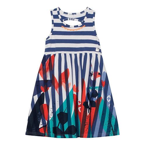 Deux Par Deux Dress with Stripes