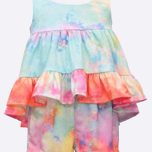 Bonnie Jean Hannah Tie Dye Short Set
