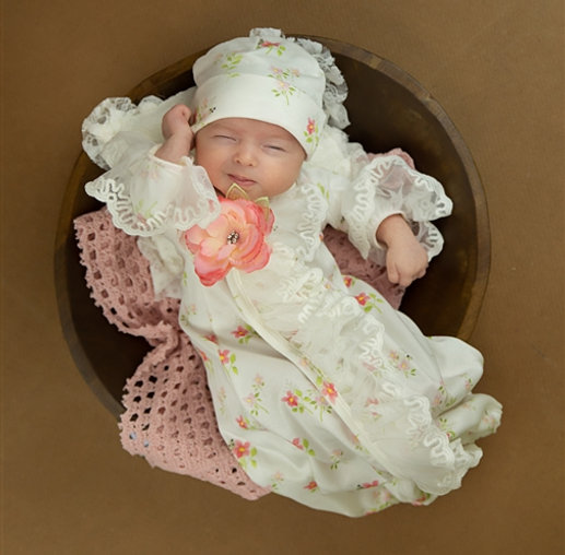 TINY PETALS TAKE-ME-HOME GIRLS GOWN