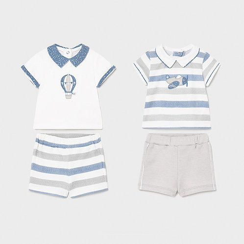 Mayoral Blue and Gray 4PC Set