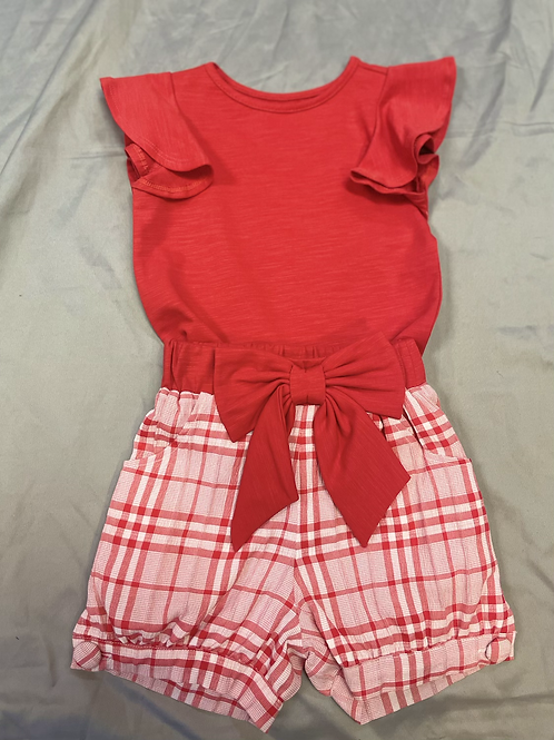 Mable + Honey Red Check 2PC Set
