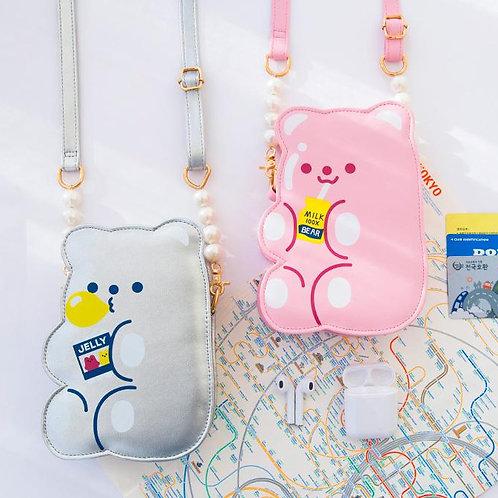 Bewaltz Pink Gummy Bear Chain Purse